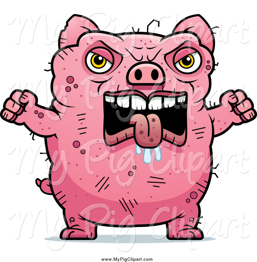 Swine clipart of a angry ugly pig holding up fists by cory thoman swine clipart of a angry ugly pig holding up fists voltagebd Image collections
