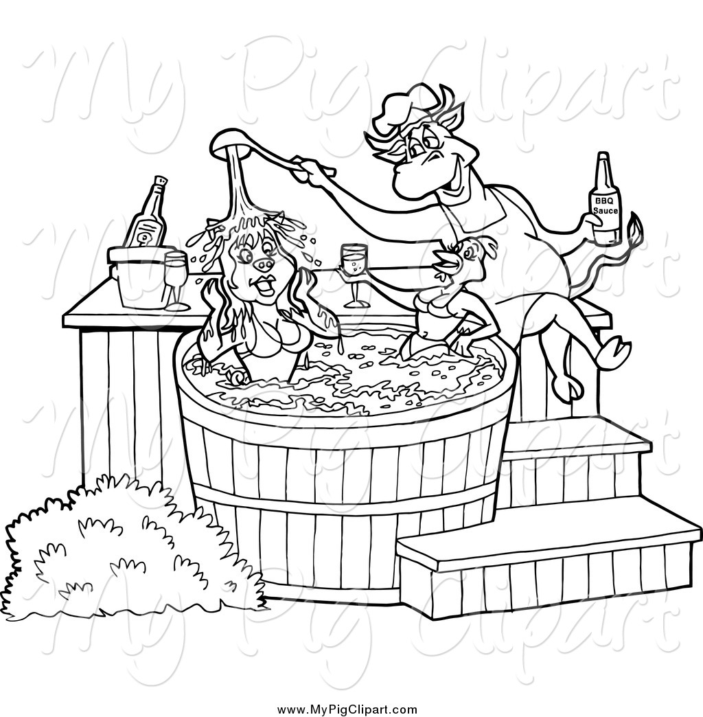 hot tub coloring coloring pages