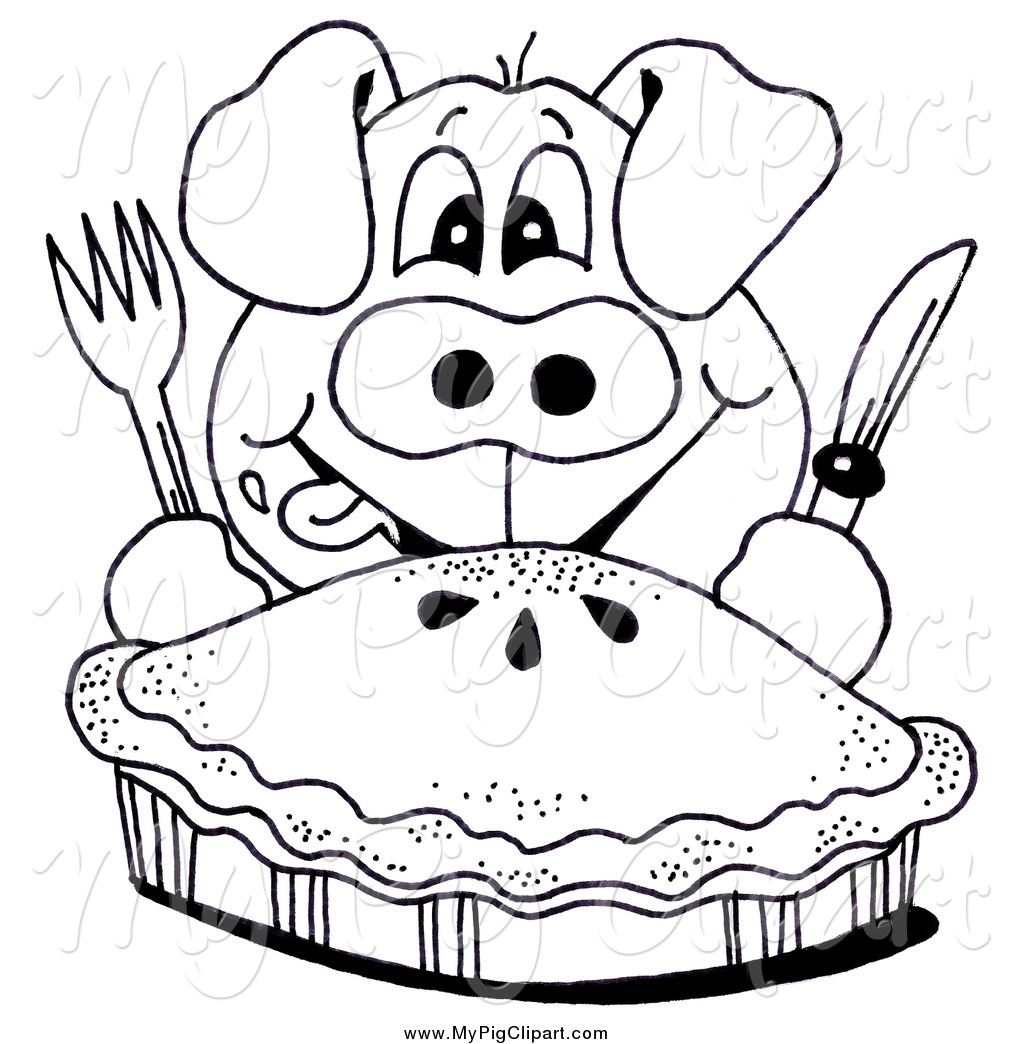 Hungry Pig Clipart