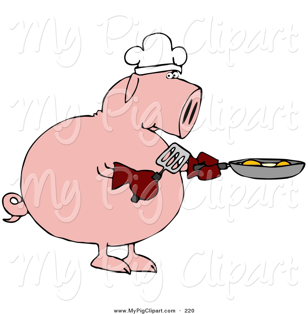 Clipart pig cooking