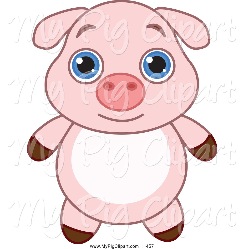 Cute Baby Pigs Clipart Cute Cartoon Pigs With Big Eyes