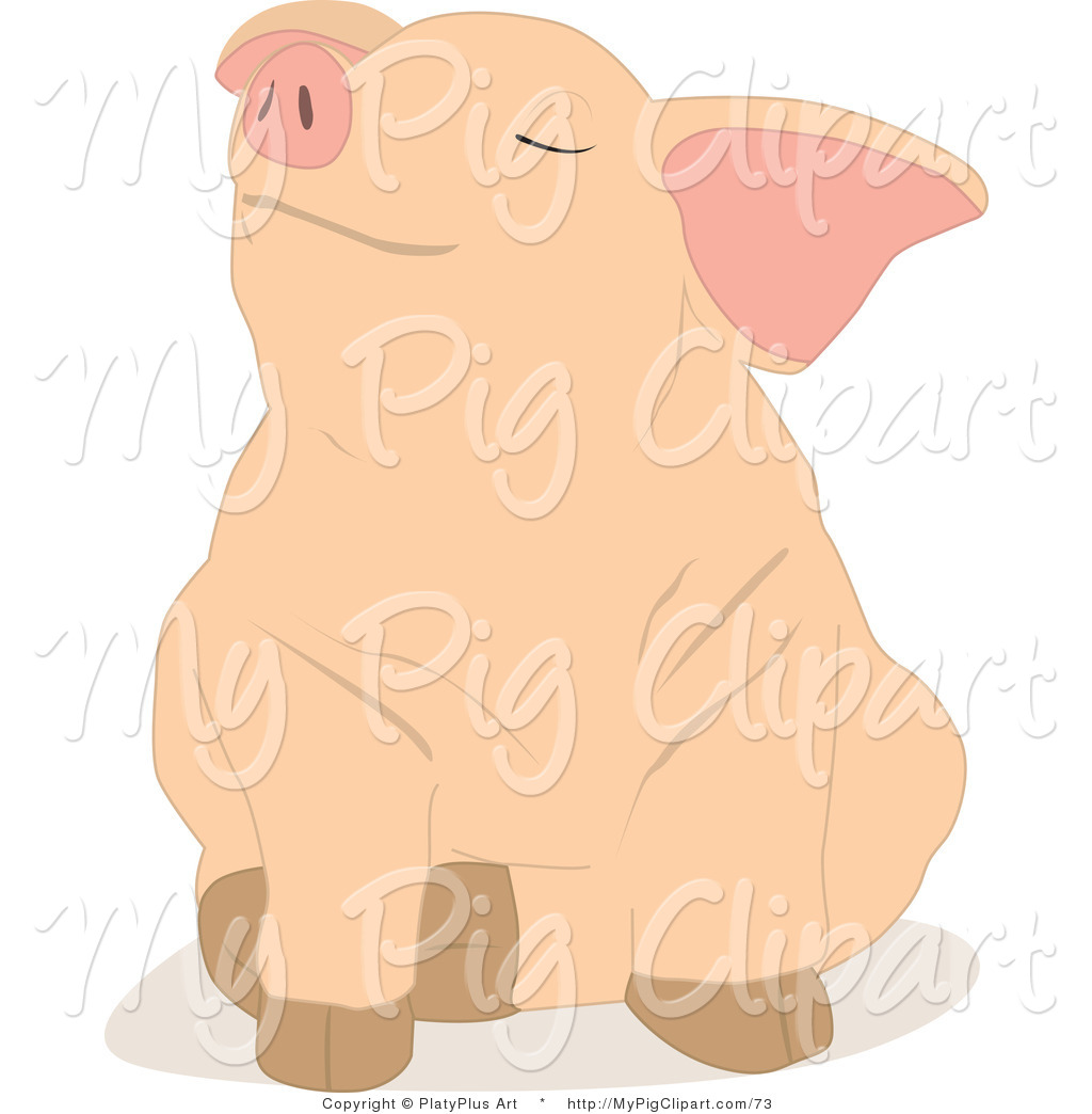 how to draw a pig sitting down
