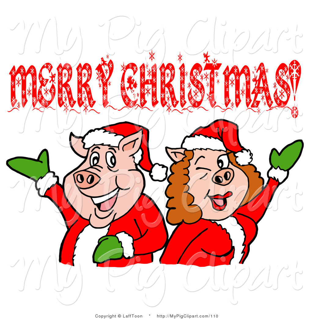 Royalty Free Holiday Stock Pig Designs