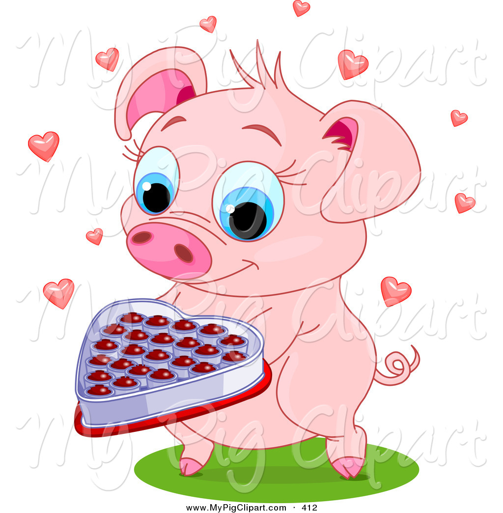 royalty free st valentines day stock pig designs - Valentine Pig