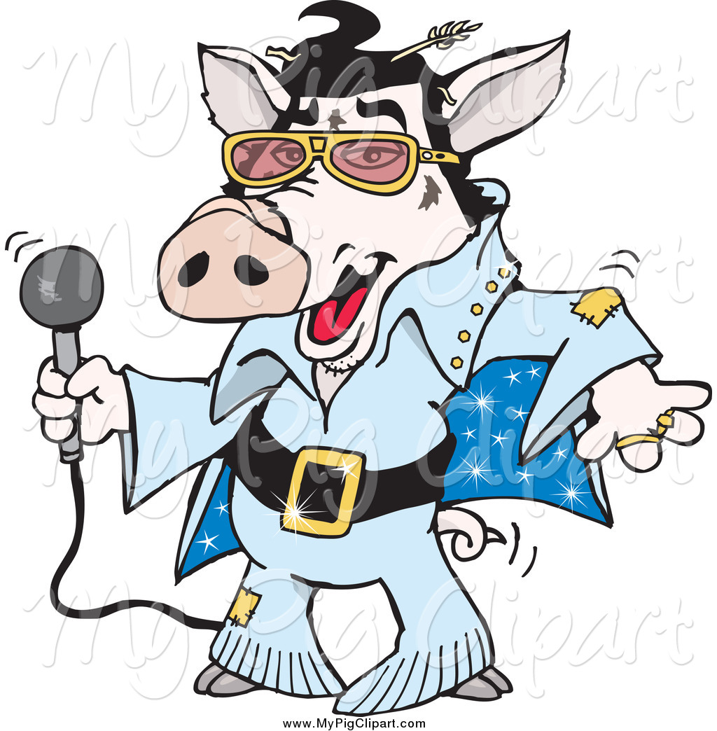 swine clipart of a talented elvis piggy dancing and shaking by rh mypigclipart com elvis clipart graphics free elvis clip art black and white