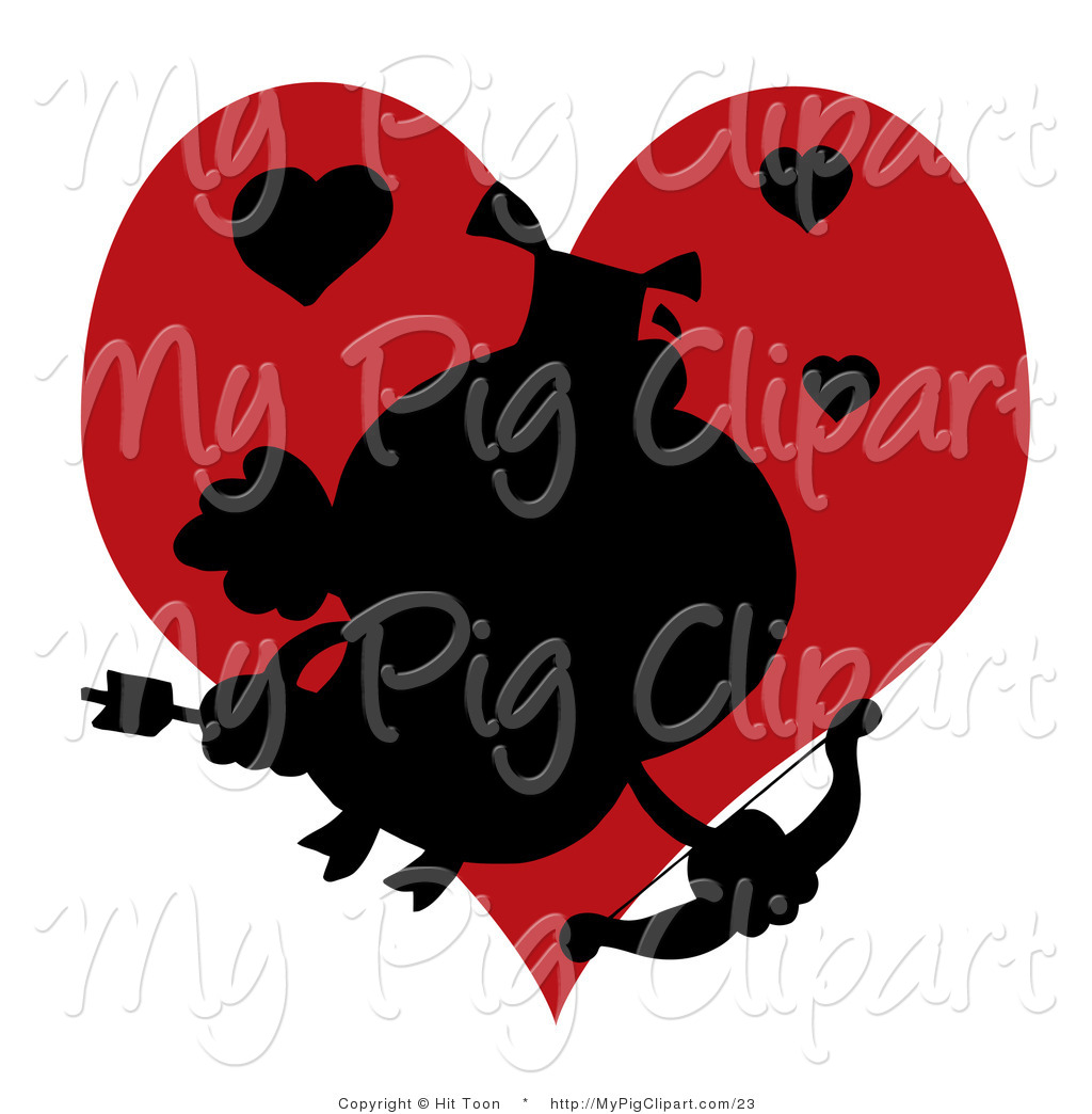 Flying Pig Silhouette Royalty free silhouette stock