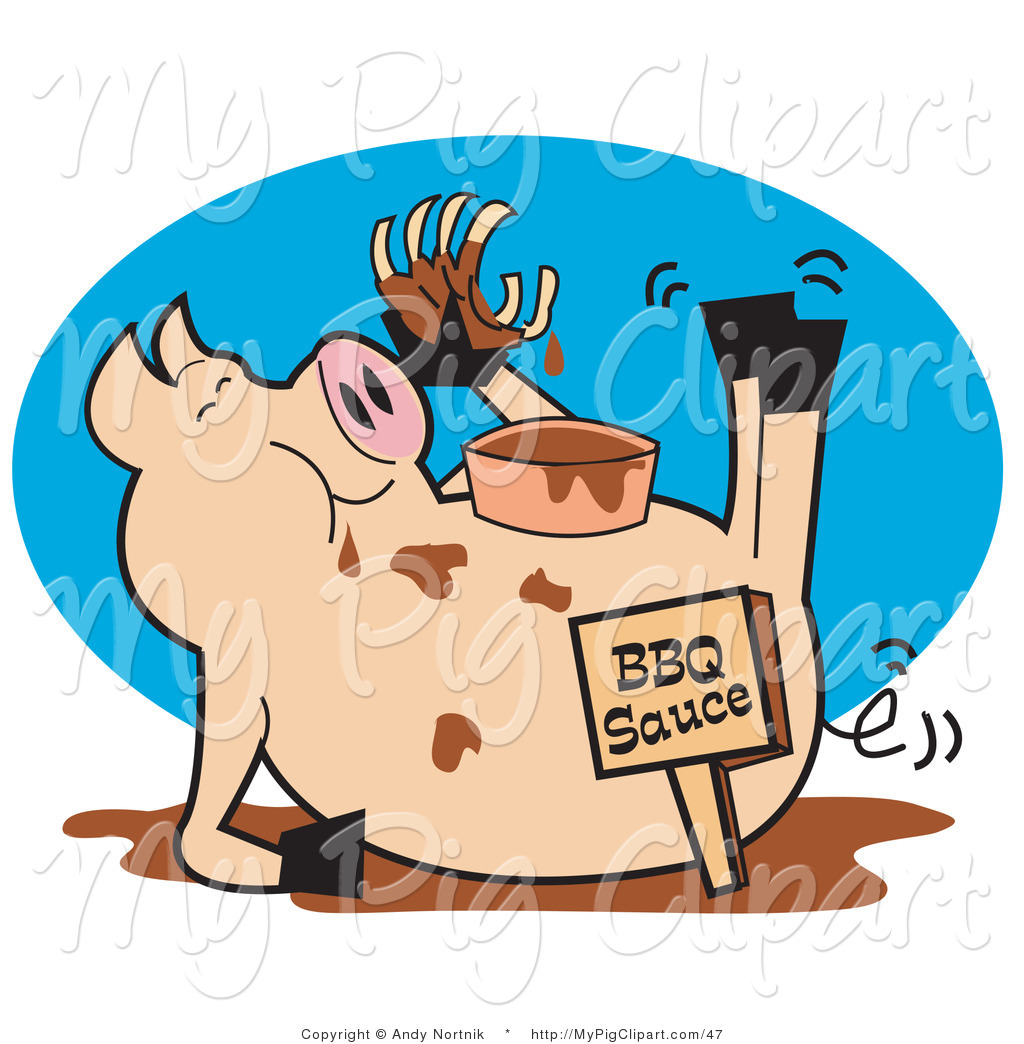 Pig in Mud Clip Art http://mypigclipart.com/design/vector-swine-clipart-of-a-pig-eating-ribs-in-a-mud-puddle-by-andy-nortnik-47