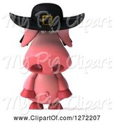 Swine Clipart of 3d Breton Pig Pouting by Julos
