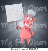 Swine Clipart of 3d Chef Pig by Julos