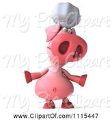 Swine Clipart of 3d Chef Pig Shrugging by Julos