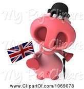 Swine Clipart of 3d English Pookie Pig by Julos