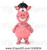 Swine Clipart of 3d French Pig by Julos