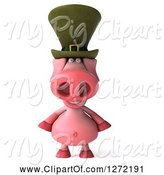 Swine Clipart of 3d Happy Irish Pig by Julos