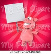 Swine Clipart of 3d Pig by Julos