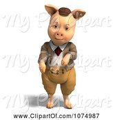 Swine Clipart of 3d Pig in Clothes 1 by Ralf61