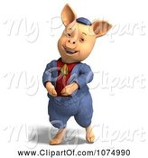 Swine Clipart of 3d Pig in Clothes 3 by Ralf61