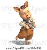 Swine Clipart of 3d Pig in Clothes 4 by Ralf61