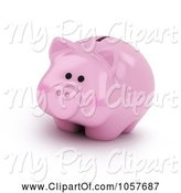 Swine Clipart of 3d Piggy Bank by BNP Design Studio