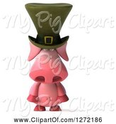 Swine Clipart of 3d Sad Irish Pig Pouting by Julos