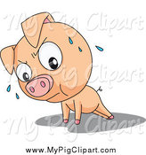 Swine Clipart of a Cute Pig Doing Push Ups by Graphics RF