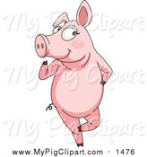 Swine Clipart of a Flirty Pig by Graphics RF