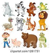 Swine Clipart of Animals by Graphics RF