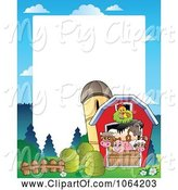 Swine Clipart of Barnyard Animal Frame 2 by Visekart