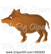 Swine Clipart of Boar by Alex Bannykh