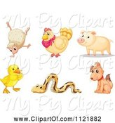 Swine Clipart of Cartoon Animals 10 by Graphics RF