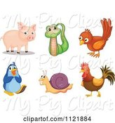 Swine Clipart of Cartoon Animals 13 by Graphics RF
