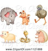 Swine Clipart of Cartoon Animals 7 by Graphics RF