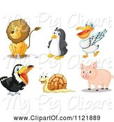 Swine Clipart of Cartoon Animals 8 by Graphics RF