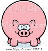 Swine Clipart of Cartoon Chubby Pig by Cory Thoman