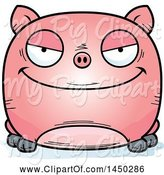 Swine Clipart of Cartoon Evil Pig Character Mascot by Cory Thoman