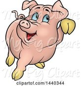 Swine Clipart of Cartoon Pig by Dero