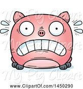 Swine Clipart of Cartoon Scared Pig Character Mascot by Cory Thoman