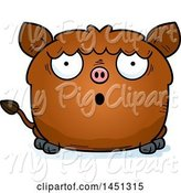 Swine Clipart of Cartoon Surprised Boar Character Mascot by Cory Thoman