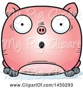Swine Clipart of Cartoon Surprised Pig Character Mascot by Cory Thoman