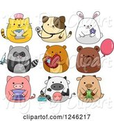 Swine Clipart of Cute Animals by BNP Design Studio