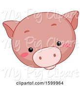 Swine Clipart of Cute Pig Face by BNP Design Studio