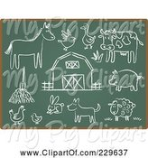 Swine Clipart of Digital Collage of Chalkboard Sketch Icons - 3 by Qiun