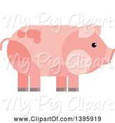 Swine Clipart of Flat Design Pig by Vector Tradition SM