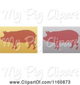 Swine Clipart of Gold and Silver Pig Icons by Andrei Marincas