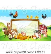 Swine Clipart of Group of Farm Animals by Graphics RF