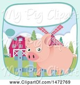 Swine Clipart of Pig by Graphics RF