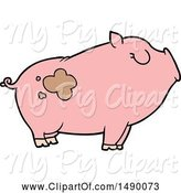 Swine Clipart of Pig by Lineartestpilot