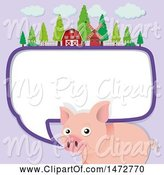 Swine Clipart of Pig Talking by Graphics RF