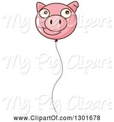 Swine Clipart of Pink Face Party Balloon by Graphics RF