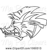 Swine Clipart of Razorback Boar Logo - 5 by Vector Tradition SM