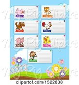 Swine Clipart of Week Timetable Chart with Animals by Graphics RF